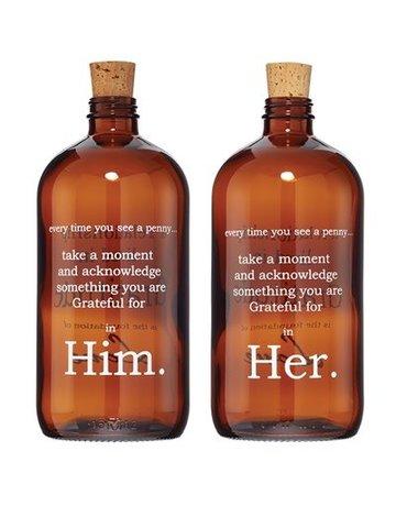 Penny Lane Him & Her Gratitude Jars