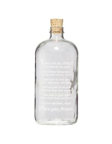 Angel Baby Clear Apothecary Jar