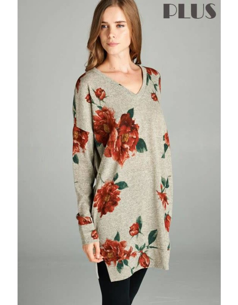 Mocha Floral Tunic