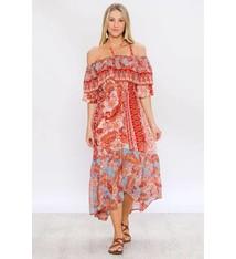 1f0c891976dc8 Flying Tomato Paisley Print Halter Maxi Dress