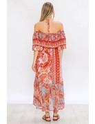 Paisley Print Halter Maxi Dress