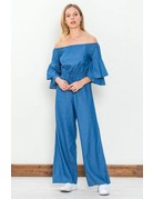 Ruffled Sleeve Jumpsuit