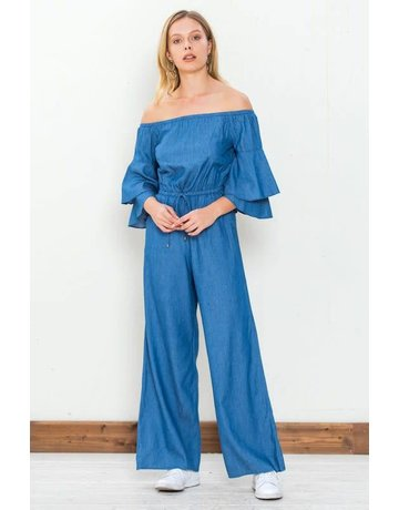 Flying Tomato Ruffled Sleeve Jumpsuit