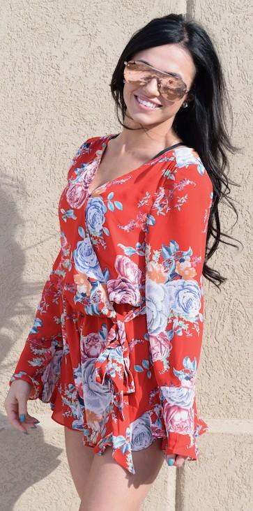 96378ff8d285 Red Floral Romper - Boutique 23