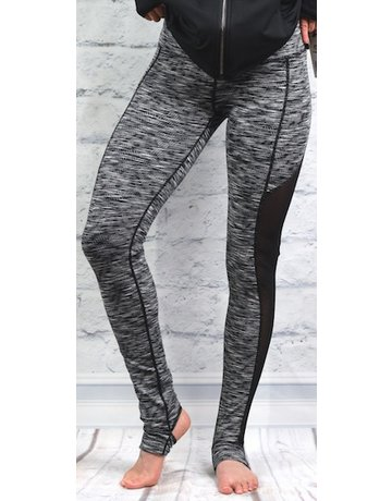 Mono B Side Mesh Panel Printed Leggings