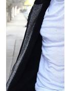 Black Fur Zip Up