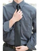 Grey Striped Button Up Dress Shirt