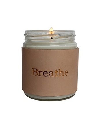 Penny Lane Leather Wrap Candle