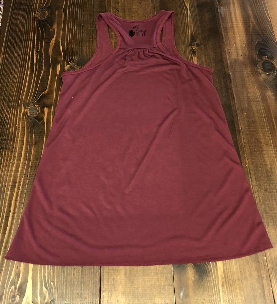 The Minted Olive Absolutely All The Wine Maroon Tank