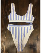 Striped Blue/White Swimsuit Bottoms