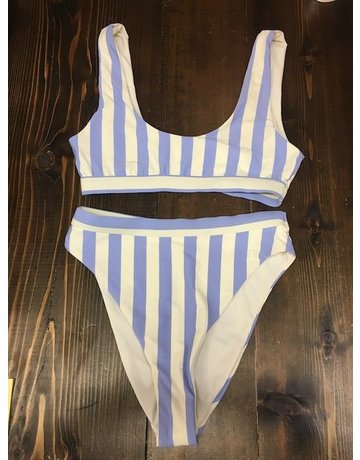 Dippin' Daisy's Striped Blue/White Swimsuit Top
