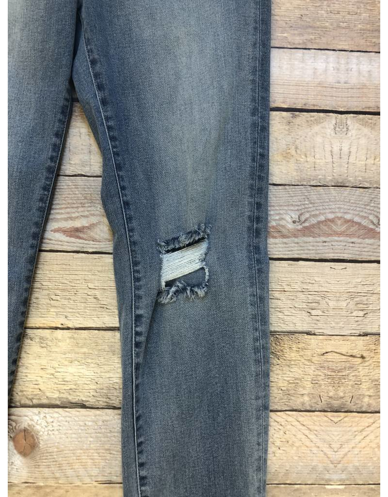 High Rise Light Wash Skinny Ankle