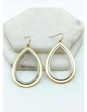 Souther Seoul Metal Teardop Earrings