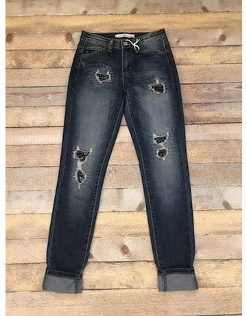 KanCan Ankle Jean w/Black Sequins