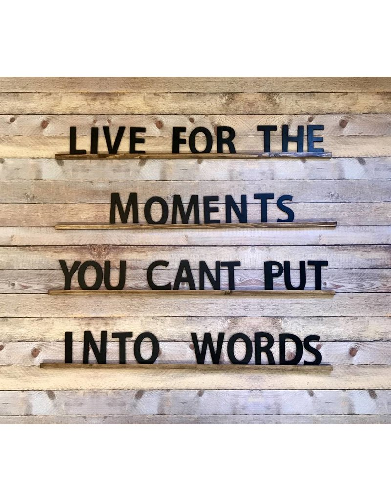 Live For The Moments You Cant Put Into Words