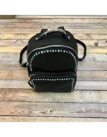 Urban Expressions Black Studded Backpack Posh