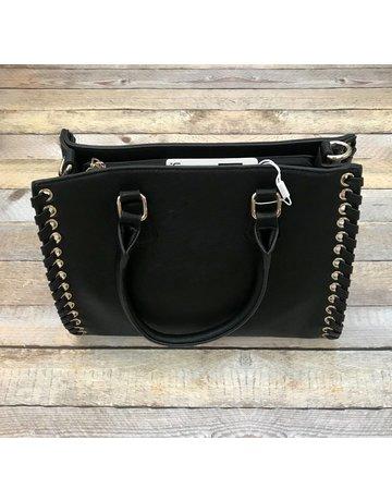 Urban Expressions Black Handbag w/ Grommet Detail Laurent