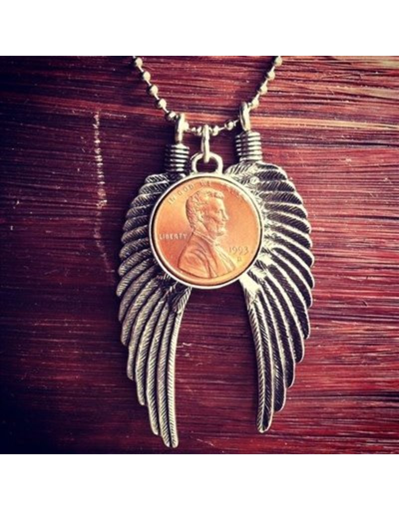 Penny From Heaven Big Wing Necklace