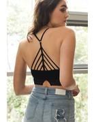 High Neck Crochet Lace Trim Bralette