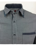 Black & White Patterned Button Up