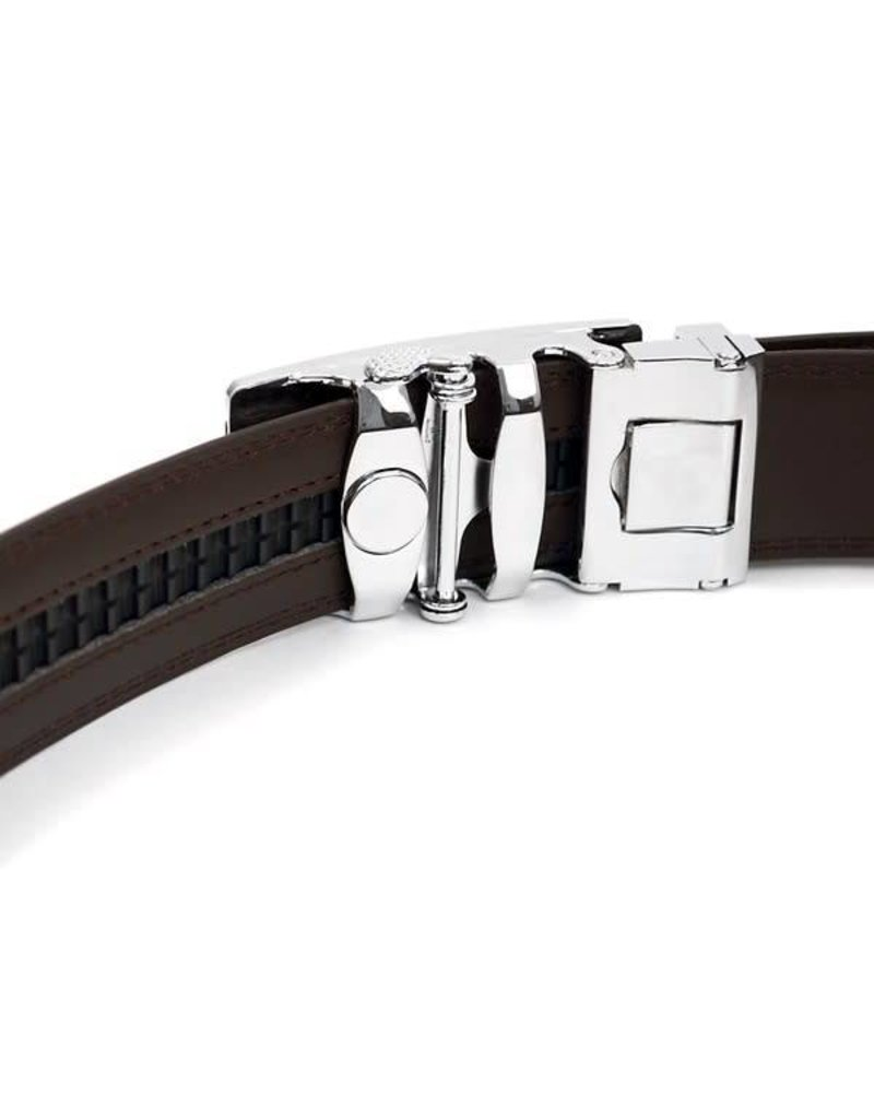 Genuine Leather Sliding Buckle Belt