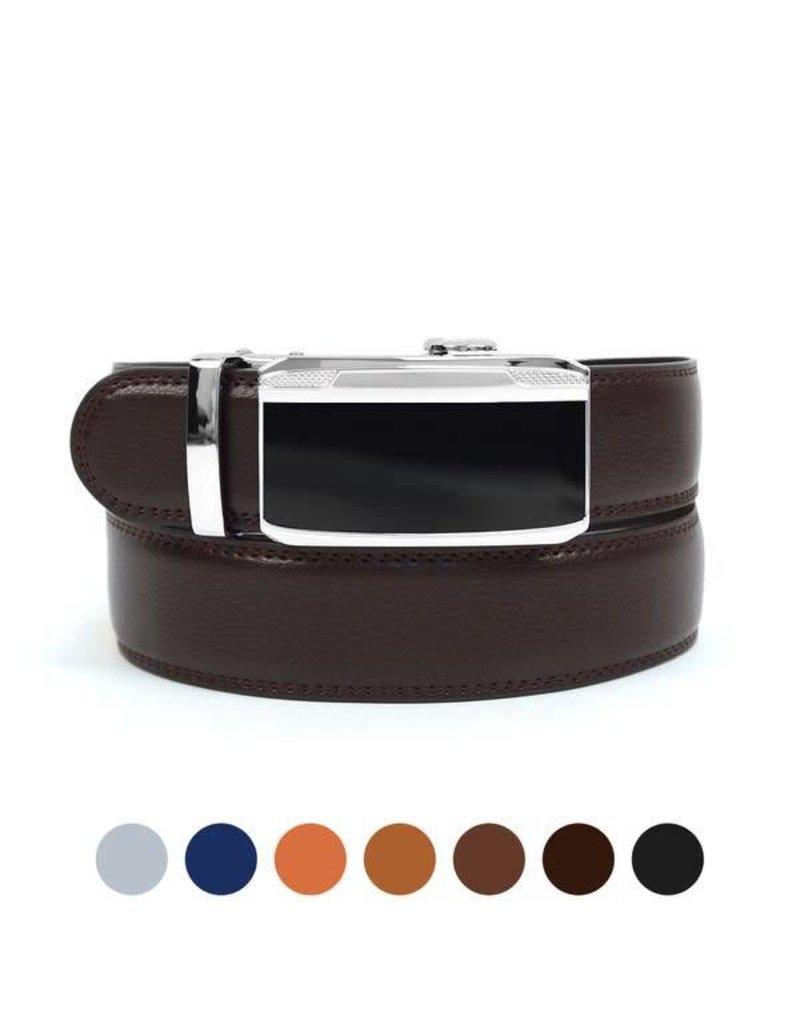 Genuine Leather Sliding Buckle Belt