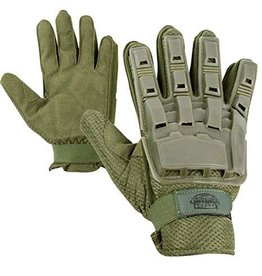 VALKEN Gloves V-TAC Full Finger Plastic Back OLIVE L