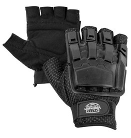 VALKEN Gloves - V-TAC Half Finger Plastic Back Black M/L