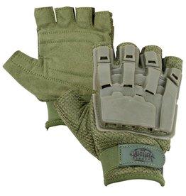 VALKEN Gloves V-TAC Half Finger Plastic Back OLIVE XL/2XL