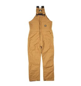 Berne Berne Men's Deluxe Insulated Bib Overall Brown Duck