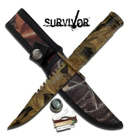 "Survivor SURVIVOR HK-690CA SURVIVAL KNIFE 8.5"" OVERALL"
