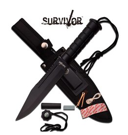 "Survivor SURVIVOR HK-786BK SURVIVAL KNIFE 12"" OVERALL"