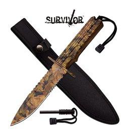 "Survivor SURVIVOR HK-796CA FIXED BLADE KNIFE 12"" OVERALL"