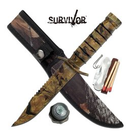 "Survivor SURVIVOR HK-695CA FIXED BLADE KNIFE 9.5"" OVERALLSurvivor Fixed Blade Knife"
