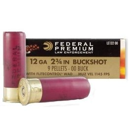 "Federal Federal 12ga 2 3/4"" buckshot 9 Pellets 00 Buck"
