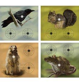 "Crosman Crosman Varmint Paper Targets - 20 pack (5 of each design) 9.75""x9"""