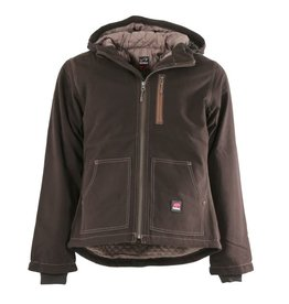 Berne Ladies Berne Hooded Jacket DARK BROWN S