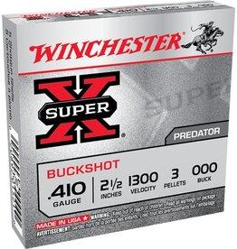 """Winchester Winchester Super X 410GA 000 Buck 2.5"""" 3 Pellets 1300fps"""