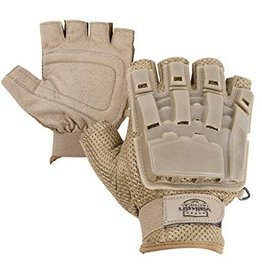 VALKEN Gloves V-TAC Half Finger Plastic Back Tan XL/2XL