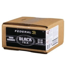 Federal Federal Black Pack 22LR 36gr Copper Plated HP 1600 rds