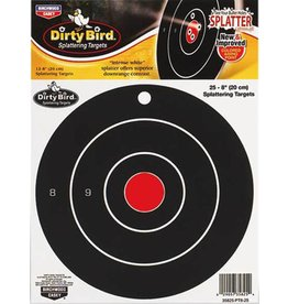 "Birchwood Casey Dirty Bird Splattering Targets Bullseye 8"" Round 25ct"