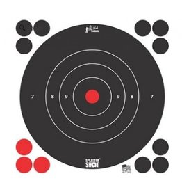 "Pro Shot Products Splatter Shot 8"" White Bullseye Targetr Peel & Stick - Qty 6 Pack"