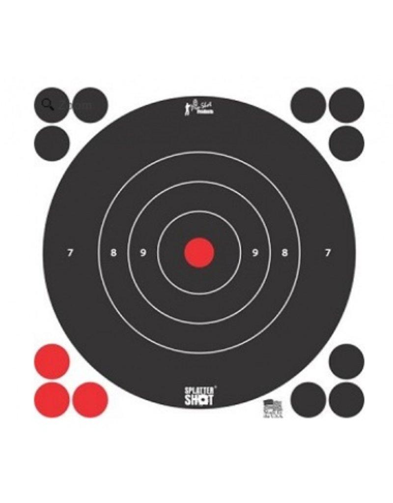 "Pro-Shot Products Splatter Shot 8"" White Bullseye Targetr Peel & Stick - Qty 6 Pack"