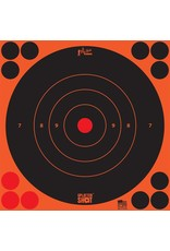 "Pro-Shot Products Splatter Shot 8"" Orange Bullseye Target Peel & Stick - 6 Qty Pack"