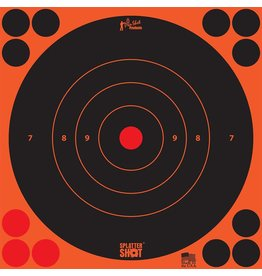 "Pro Shot Products Splatter Shot 8"" Orange Bullseye Target Peel & Stick - 6 Qty Pack"