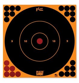 "Pro Shot Products Splatter Shot 12"" Orange Bullseye Target Peel & Stick - 5 Qty Pack"