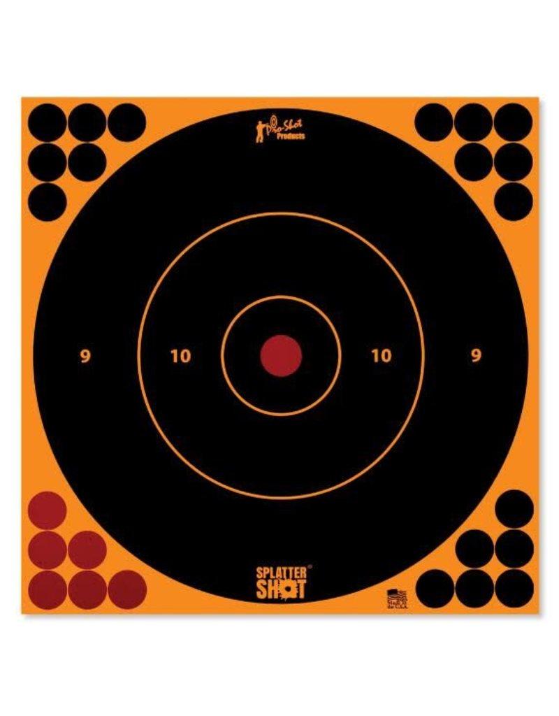"Pro-Shot Products Splatter Shot 12"" Orange Bullseye Target Peel & Stick - 5 Qty Pack"