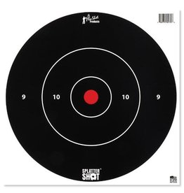 "Pro-Shot Products Splatter Shot 12"" White Bullseye Target Peel & Stick - 5 Qty Pack"
