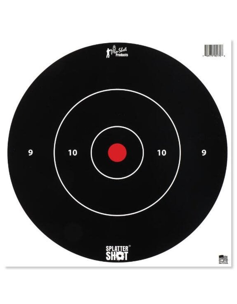 "Pro Shot Products Splatter Shot 12"" White Bullseye Target - Tag Paper - 5 Qty Pack"