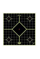 "Pro-Shot Products Splatter Shot 12"" GREEN Sight-in Target Peel & Stick - 5 Qty Pack"